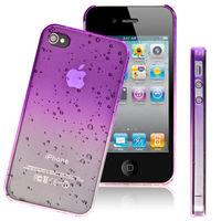 Чехол-накладка на Apple iPhone 4/4S, силикон, капли, фиолетовый