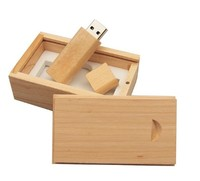 Память USB 2.0 Flash, 32GB, BiNFUL, дерево, wood №1 с боксом, mapple wood