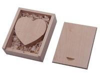 Память USB 2.0 Flash, 32GB, BiNFUL, дерево, wood №7 с боксом, mapple wood heart