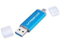 Память USB 2.0 Flash, 8GB, AMP, OTG microUSB, синий