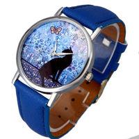 Часы наручные Noname, ц.цветной, р.синий, кожа