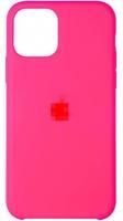 Чехол-накладка на Apple iPhone 11, original design, закрытый, микрофибра, с лого, фуксия
