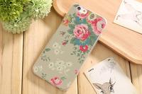 Чехол-накладка на Apple iPhone 6/6S, силикон, flowers 12