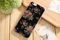 Чехол-накладка на Apple iPhone 6/6S, силикон, flowers 14