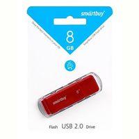 Память USB 2.0 Flash, 8GB, Smart Buy Dock Red