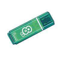Память USB 2.0 Flash, 8GB, Smart Buy Glossy series Green