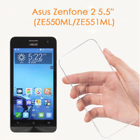 Чехол-накладка для Asus Zenfone 2 5.5'' (ZE550ML/ZE551ML) силикон, ультратонкий, прозрачный