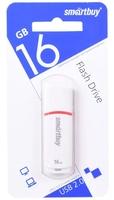 Память USB 2.0 Flash, 16GB, Smart Buy Crown White COMPACT